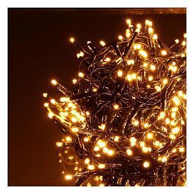 Guirlande de Noël 1200 LED blanc chaud ambré extérieur 220V s3