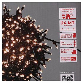 Guirlande de Noël 1200 LED blanc chaud ambré extérieur 220V s5