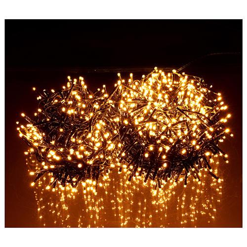 Guirlande de Noël 1200 LED blanc chaud ambré extérieur 220V 2
