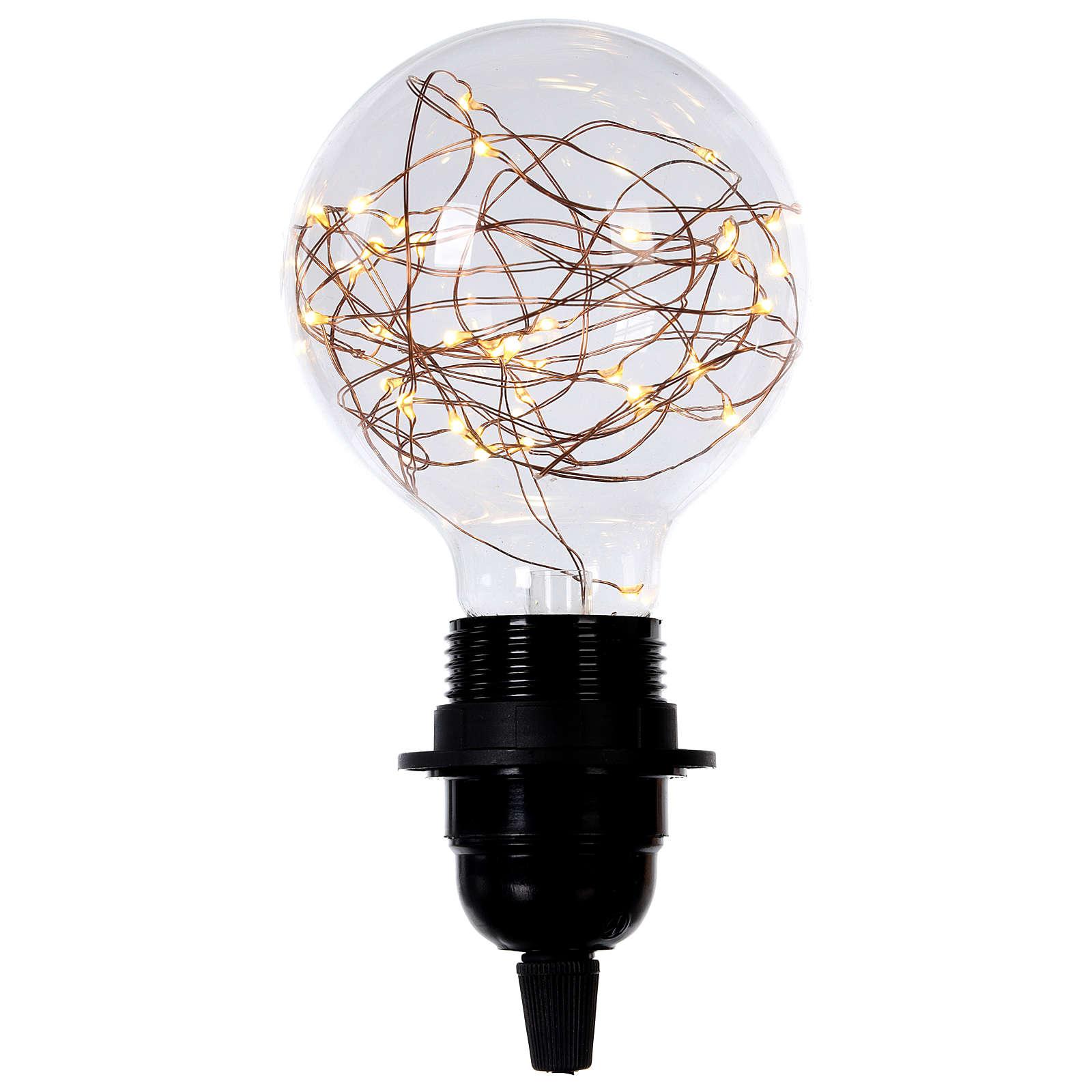 Ampoule avec gouttes LED blanc chaud 3