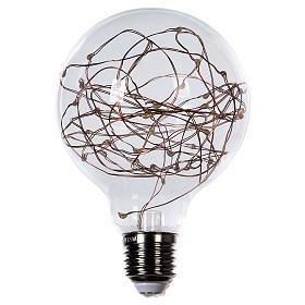 Guirlandes lumineuses de Noël: Ampoule avec gouttes LED blanc chaud