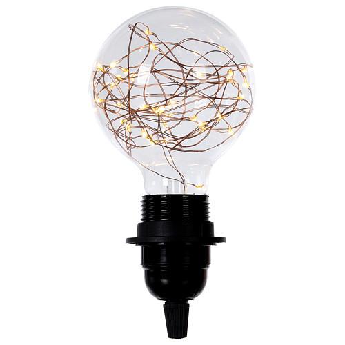 Ampoule avec gouttes LED blanc chaud 2