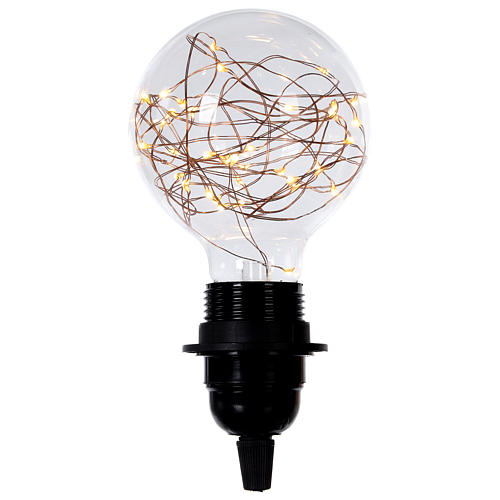 Bulb with warm white LED light inside 2