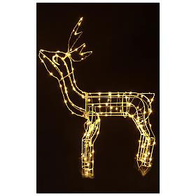 Luz de Natal Rena 62 cm branco quente corrente bateria interior 220V s2