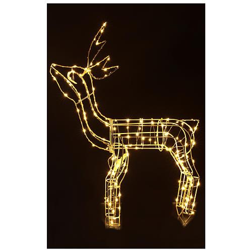 Luz de Natal Rena 62 cm branco quente corrente bateria interior 220V 2