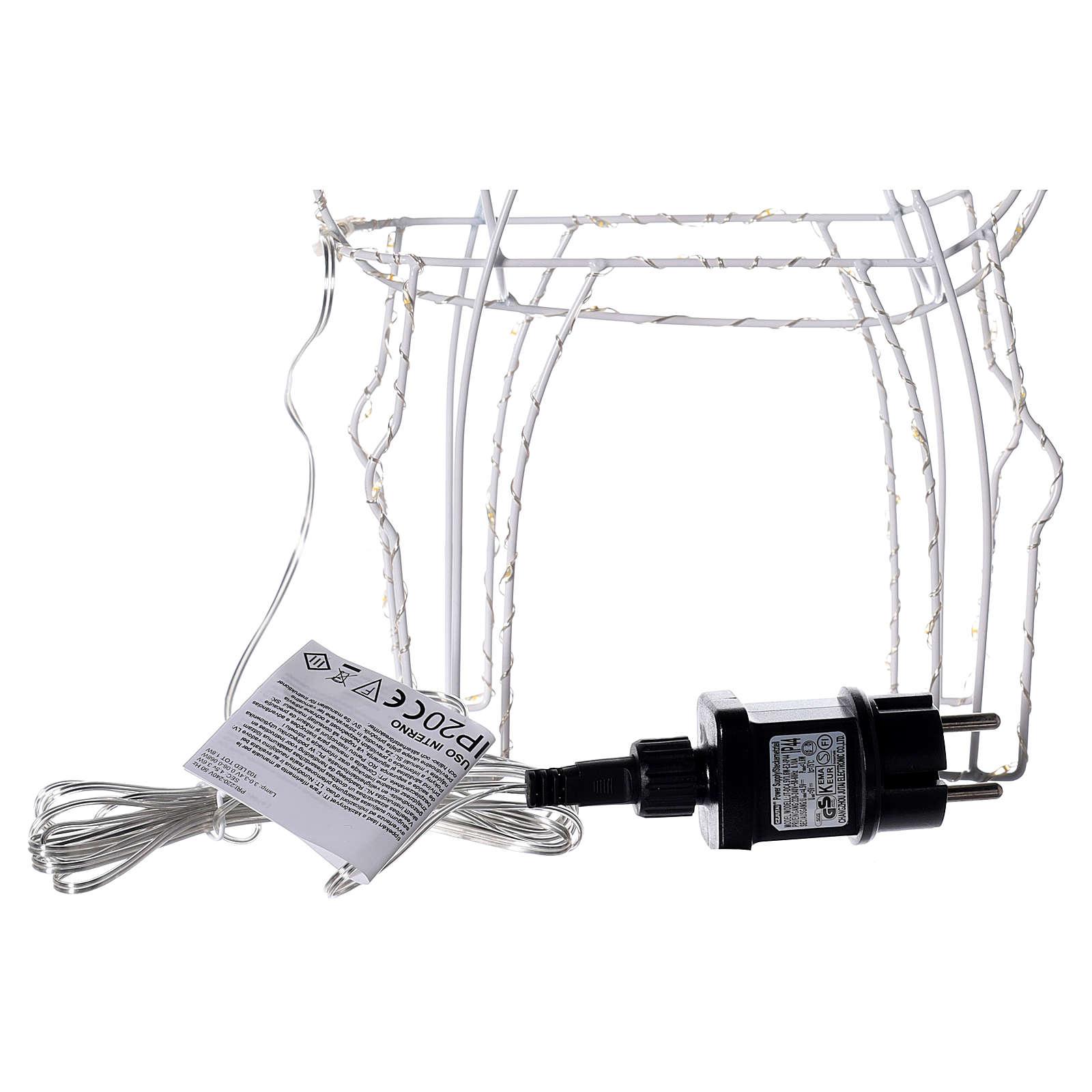 Renna luminosa 45 cm bianco caldo corrente batteria interno 220V 3