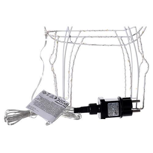 Renna luminosa 45 cm bianco caldo corrente batteria interno 220V 8