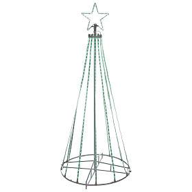 Luces de Navidad: Árbol con hilos luminosos multicolor 180 cm corriente pilas interior 220V
