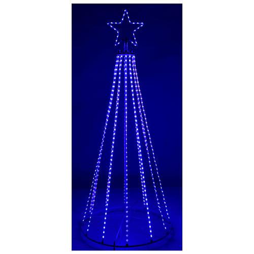 Albero con fili luminosi multicolor 180 cm corrente batteria interno 220V 5
