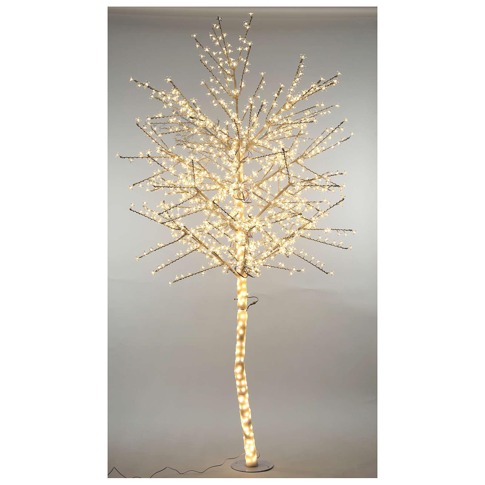 Albero ciliegio luminoso 300 cm bianco caldo corrente 3