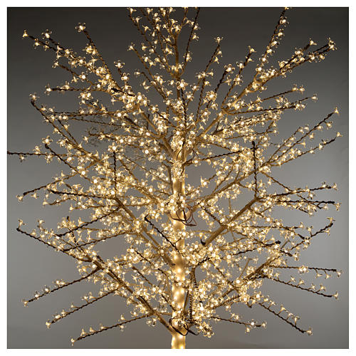 Albero ciliegio luminoso 300 cm bianco caldo corrente 2