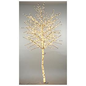 Luzes de Natal: Árvore cerejeira luminosa 300 cm branco quente corrente pilhas