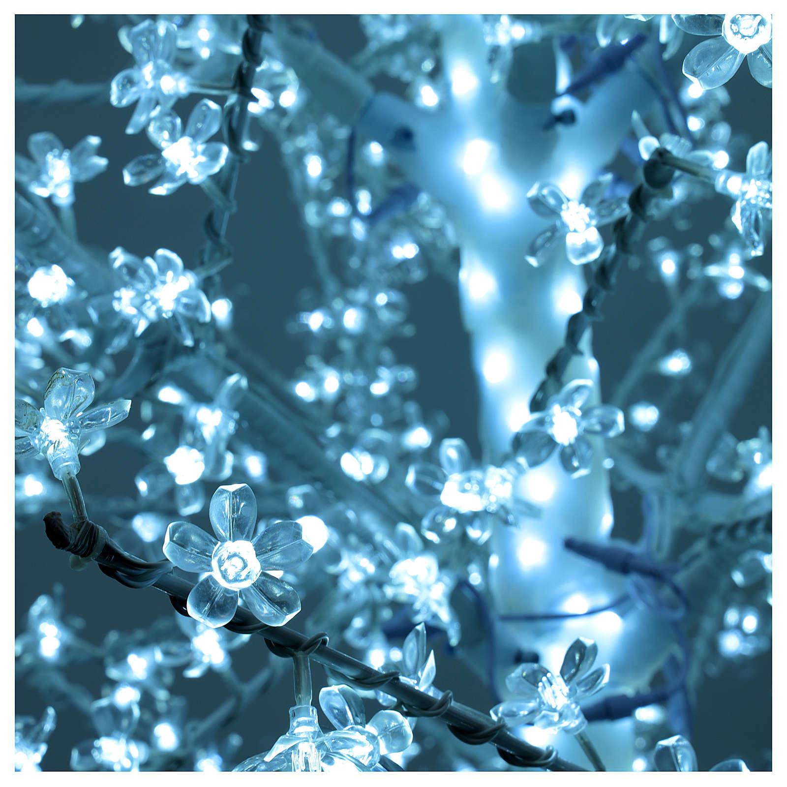 Árbol cerezo luminoso 300 cm blanco frío corriente batería 3