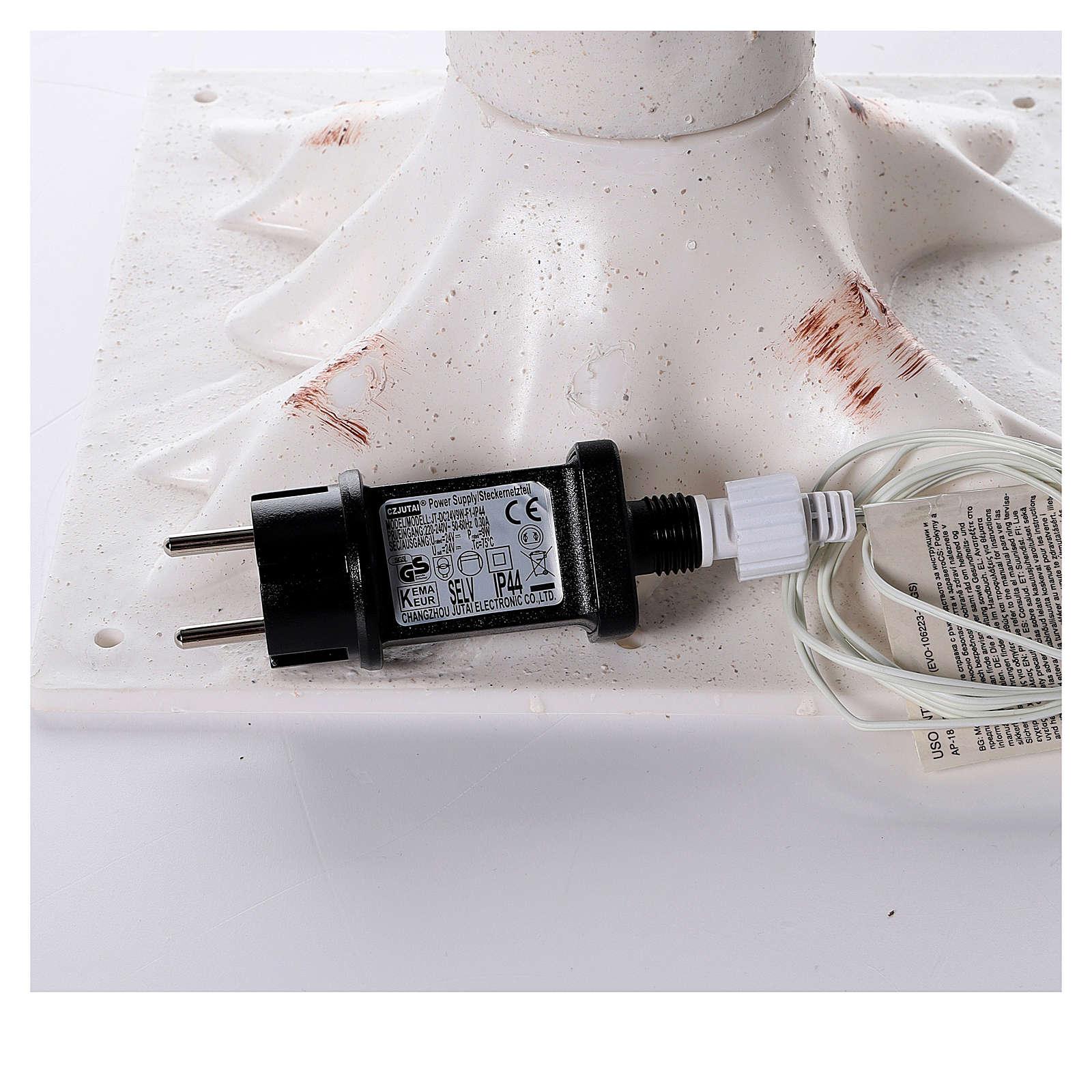 Albero luminoso stilizzato 328 led bianco caldo corrente batteria 3