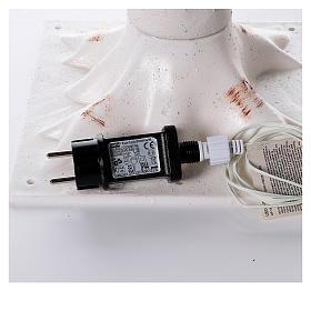 Albero luminoso stilizzato 328 led bianco caldo corrente batteria s7