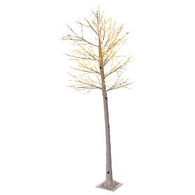 Luzes de Natal: Árvore luminosa estilizada 225 cm, 328 luzes LED branco quente corrente bateria