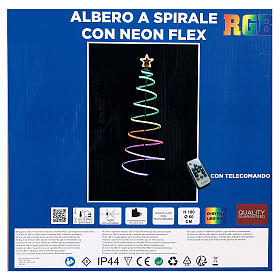 Arbre en spirale 496 LED RGB multicolores courant piles s8