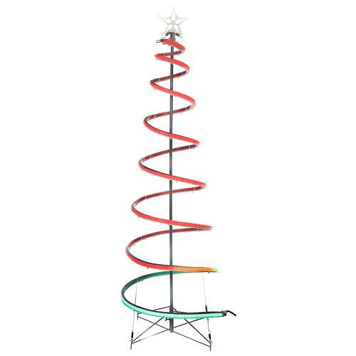 Arbre en spirale 496 LED RGB multicolores courant piles 1