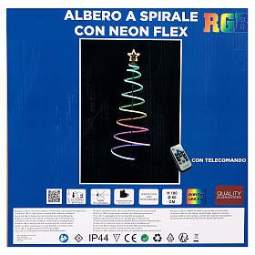 Albero a spirale 496 LED RGB multicolor corrente batteria s8