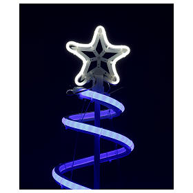 LED spiral Christmas tree, 496 LEDs RGB multi-color electric powered s3