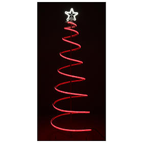 LED spiral Christmas tree, 496 LEDs RGB multi-color electric powered s4