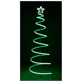 LED spiral Christmas tree, 496 LEDs RGB multi-color electric powered s6