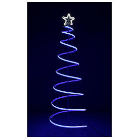 LED spiral Christmas tree, 496 LEDs RGB multi-color electric powered s7