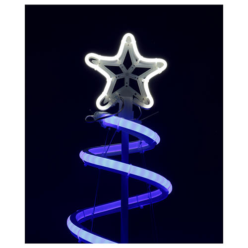 LED spiral Christmas tree, 496 LEDs RGB multi-color electric powered 3