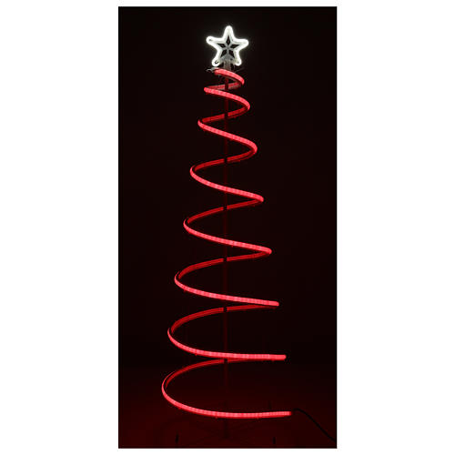 LED spiral Christmas tree, 496 LEDs RGB multi-color electric powered 4