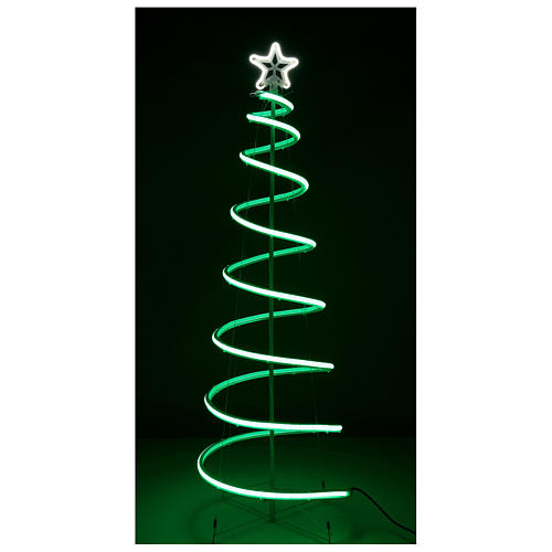 LED spiral Christmas tree, 496 LEDs RGB multi-color electric powered 6