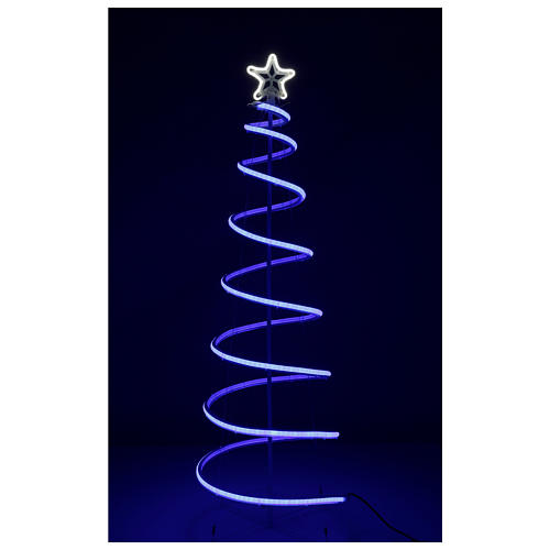 LED spiral Christmas tree, 496 LEDs RGB multi-color electric powered 7
