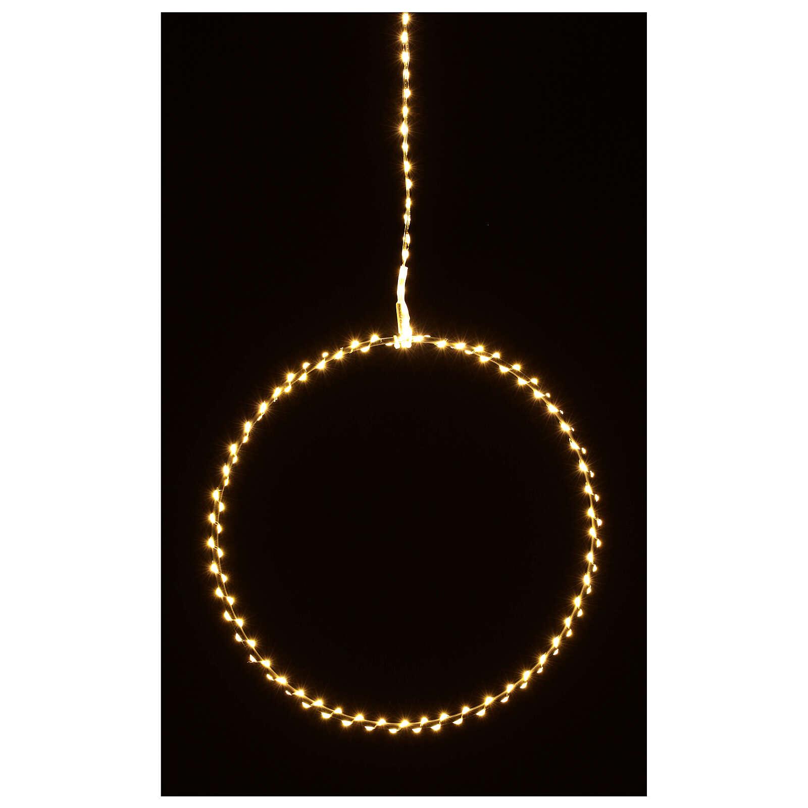 Anillo luminoso Navidad gotas led blanco cálido d. 50 cm interior 220V 3