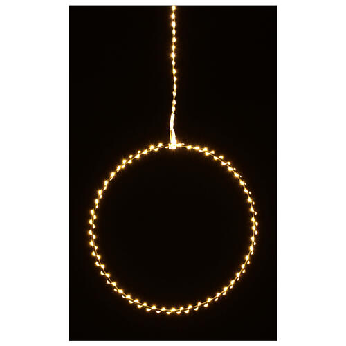 Anillo luminoso Navidad gotas led blanco cálido d. 50 cm interior 220V 7