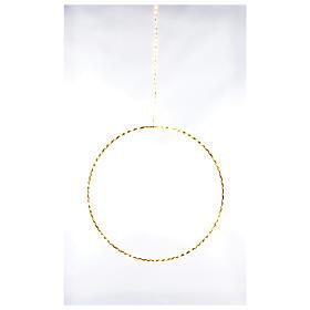 Anello luminoso Natale gocce led bianco caldo d. 50 cm interno 220V s1