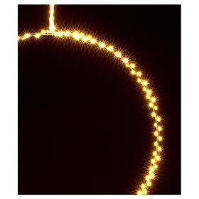 Anello luminoso Natale gocce led bianco caldo d. 50 cm interno 220V s3