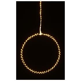 Anello luminoso Natale gocce led bianco caldo d. 50 cm interno 220V s7