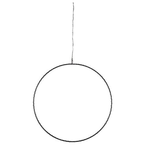 Anello luminoso Natale gocce led bianco caldo d. 50 cm interno 220V 4