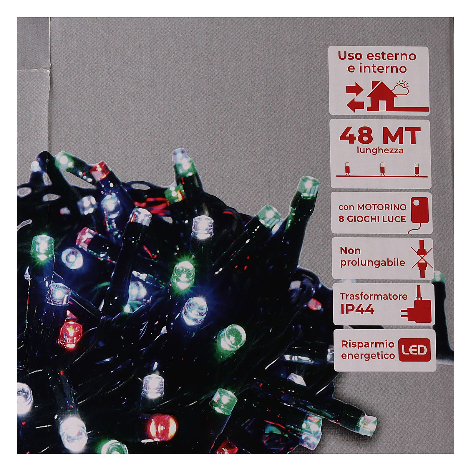 Cadena luminosa Navidad verde 1200 led multicolor controller exterior 220V 3