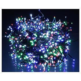 Guirlande lumineuse Noël verte 1200 LED multicolores interrupteur pour extérieur 220V s1