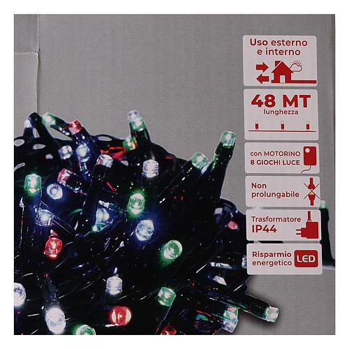 Guirlande lumineuse Noël verte 1200 LED multicolores interrupteur pour extérieur 220V 4