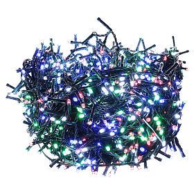 Catena luminosa Natale verde 1200 led multicolore controller esterno 220V s1