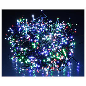Catena luminosa Natale verde 1200 led multicolore controller esterno 220V s2