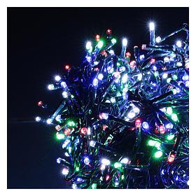 Catena luminosa Natale verde 1200 led multicolore controller esterno 220V s3