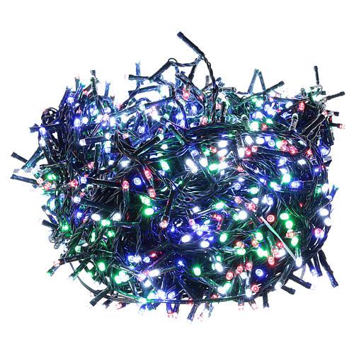 Catena luminosa Natale verde 1200 led multicolore controller esterno 220V 1