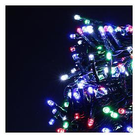 Guirlande lumineuse Noël verte 500 LED multicolores pour extérieur s3