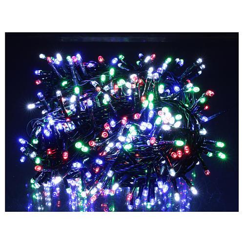 Catena luminosa natalizia verde 500 led multicolore esterno 220V 2