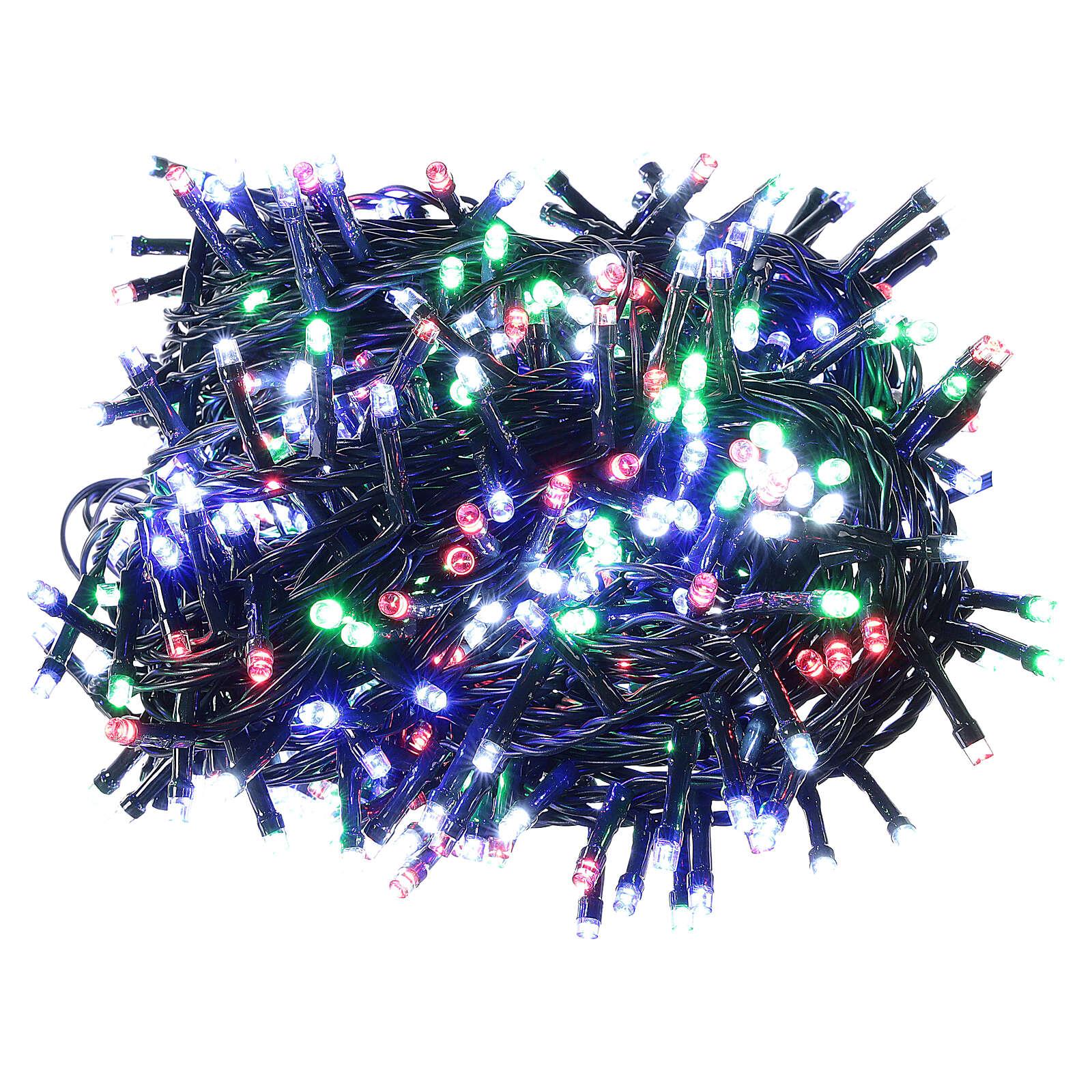 Multicolor Christmas tree lights, 500 LEDs green string outdoors 220V 3