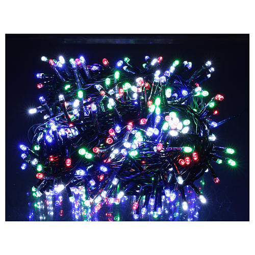 Multicolor Christmas tree lights, 500 LEDs green string outdoors 220V 2