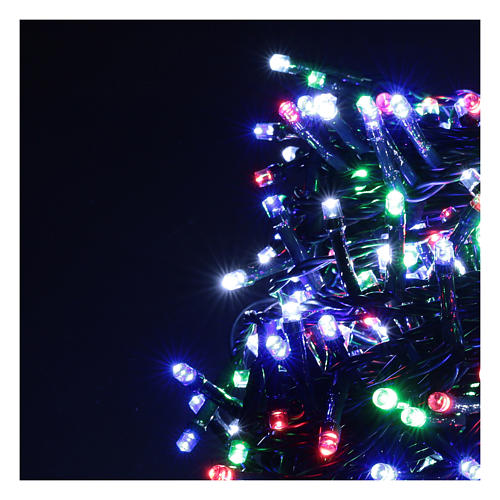 Multicolor Christmas tree lights, 500 LEDs green string outdoors 220V 3