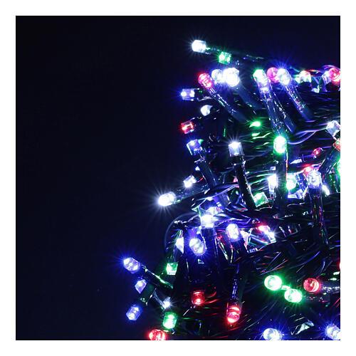 Multicolor Christmas tree lights, 500 LEDs green string outdoors 220V 2